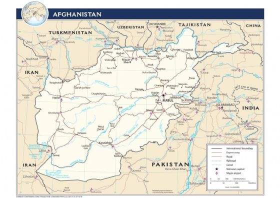 CIA Map of Afghanistan (Transportation) 2009 Print/Poster (5206)